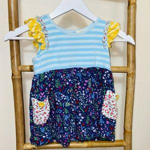 Matilda Jane kids girls top 6 stripes floral shirt